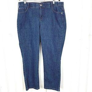 JUST MY SIZE Woman Denim Jeans Dark Wash 18W